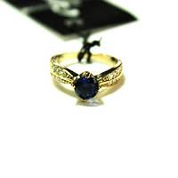 Кольцо в золоте с синим камнем