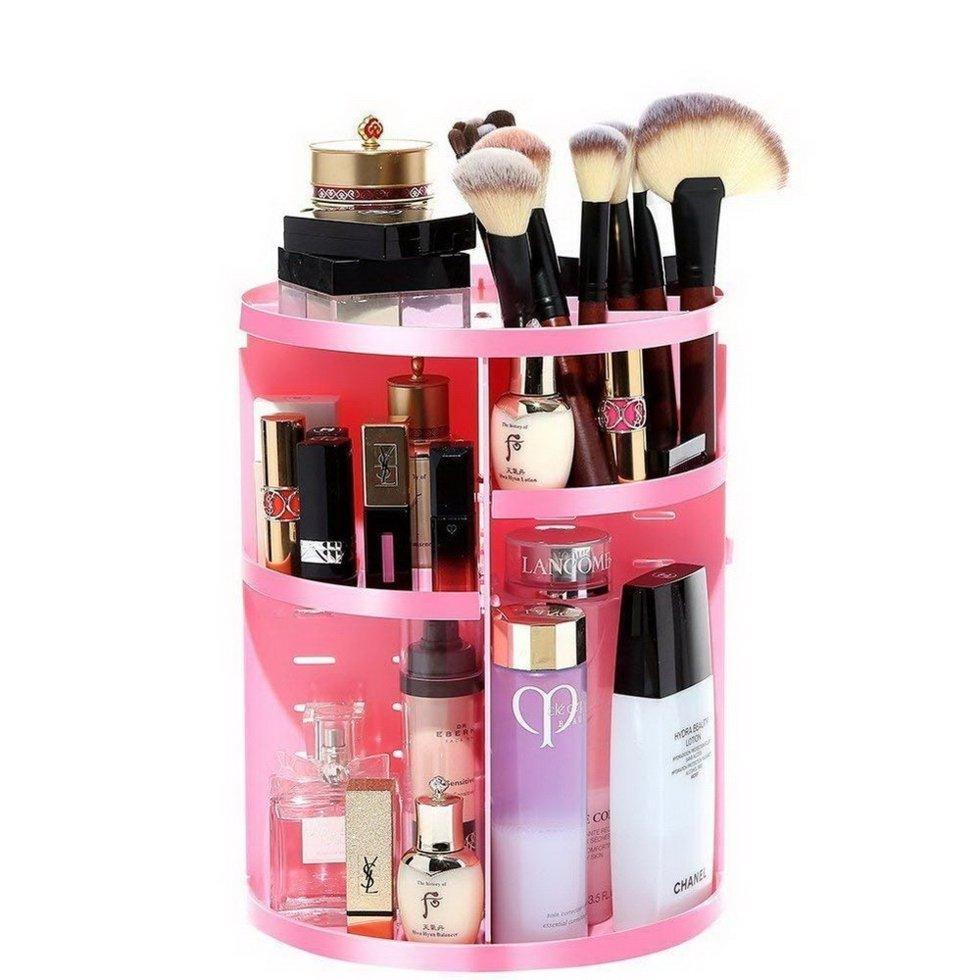 Вращающийся органайзер для косметики Rotation Cosmetic Organizer, pink