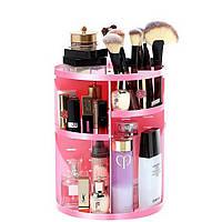 Вращающийся органайзер для косметики Rotation Cosmetic Organizer, pink, фото 1
