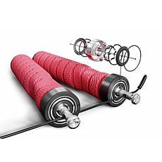 Скакалка с подшипниками и мягкой рукояткой HS-P030JR red, фото 3