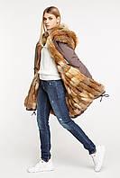 Парка женская с мехом лисы размеры 52 - 58, фото 1