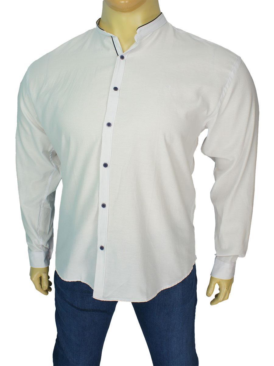 Белая мужская рубашка Desibel 10.089 C-02 BT в большом размере