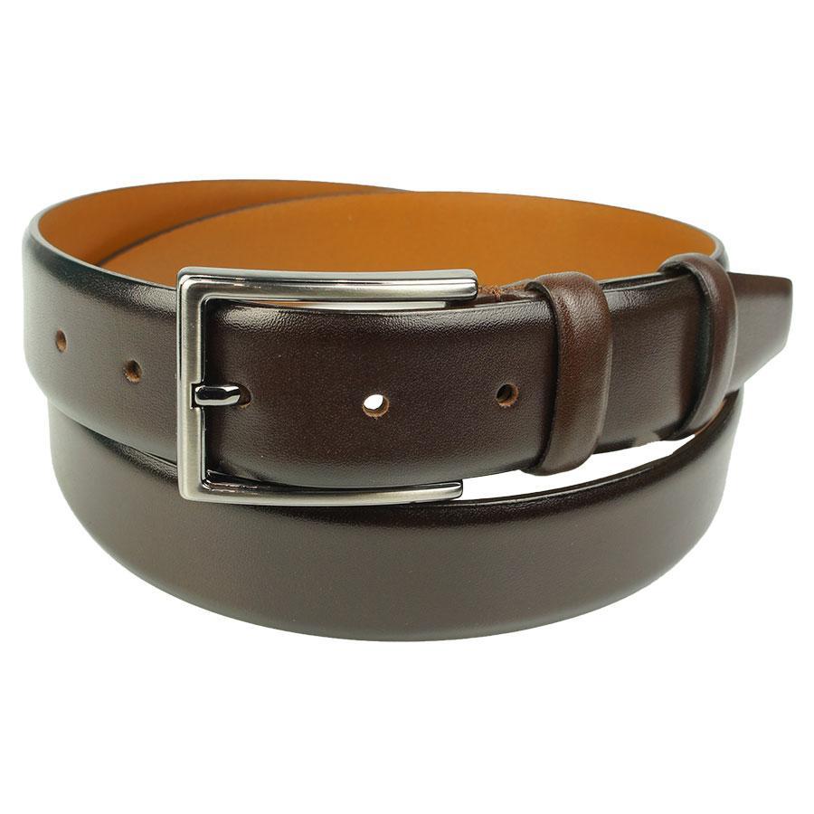 Мужской классический кожаный ремень Bond 1100 коричневого цвета