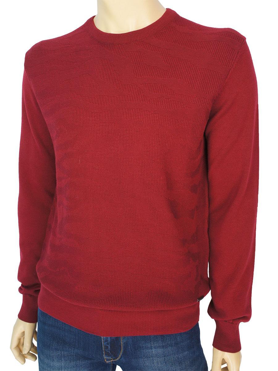 Стильный мужской свитер Better Life BT-1017 Bordo бордового цвета