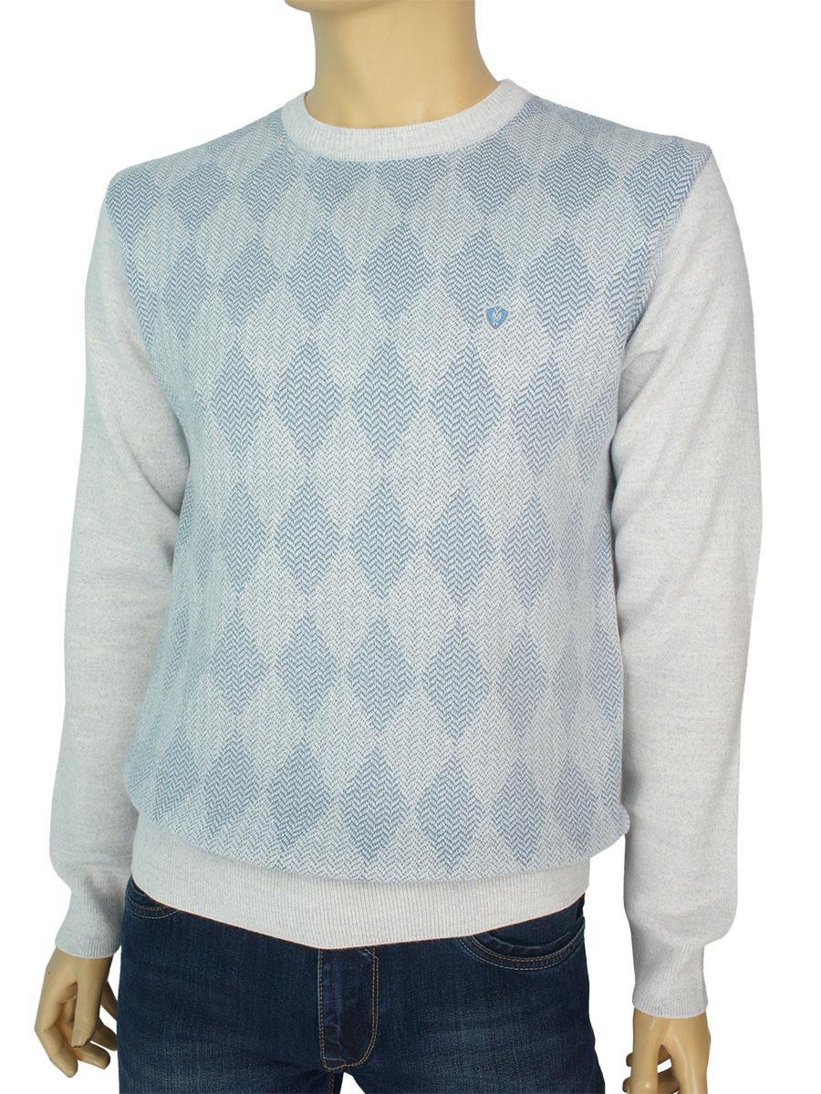 Мужской классический свитер Yamak 1017 light-grey