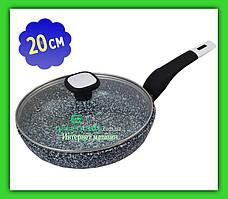 Сковорода UNIQUE UN 5113 20 см с крышкой