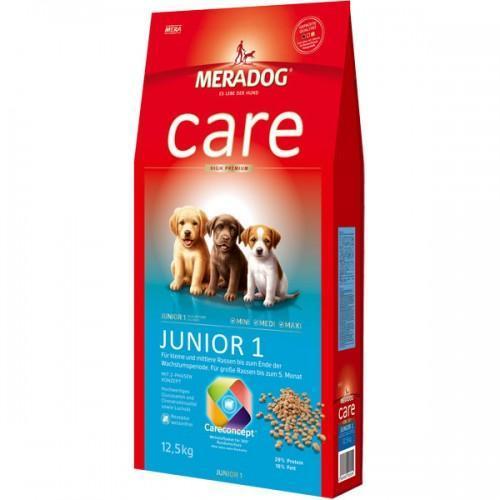 Mera Dog Care Junior 1 Корм Для Мелких, Средних И Крупных Пород Собак До 5 Месяцев, 12.5 Кг