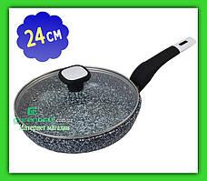 Сковорода UNIQUE UN 5115 24 см с крышкой