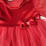 Красное пышное платье на девочку Breeze 178 . Размер 140 см, фото 2