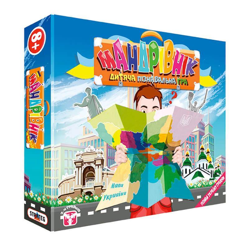 Игра настольная Мандрівник 30211 Strateg. Пізнавай Україну граючи зі своєю дитиною !