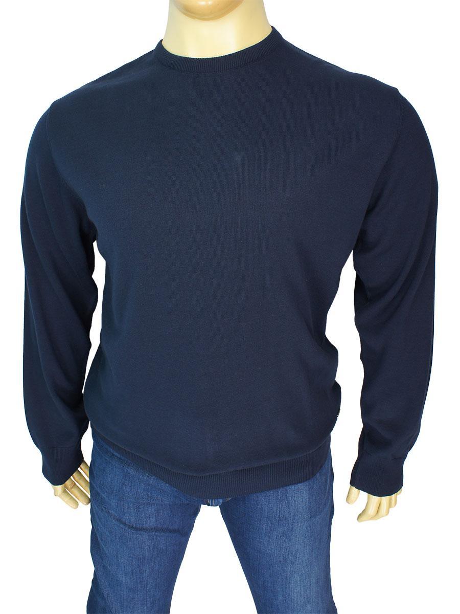 Темно-синій чоловічий светр Better Life BT-1101B Marine великого розміру