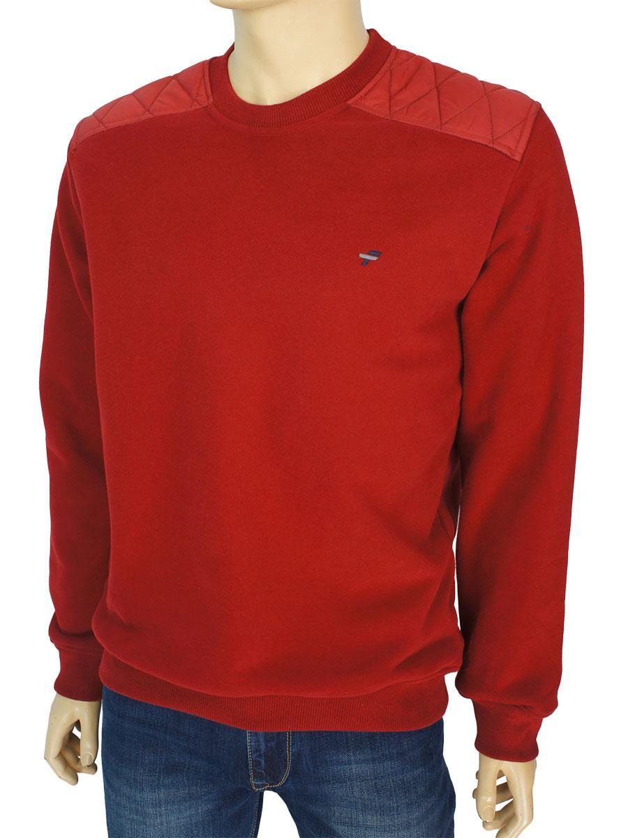 Стильна чоловіча толстовка Fabiani 23449 Bordo в бордовому кольорі