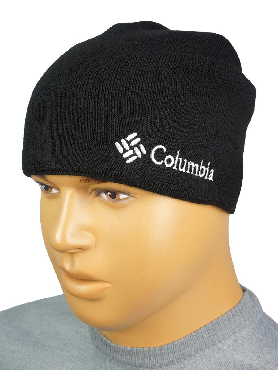 Чоловіча подовжена шапка в стилі C C 18 black чорного кольору