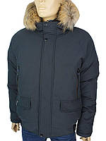 Стильна зимова куртка для чоловіків Black vinyl C19-1570 6 # Ocean Grey