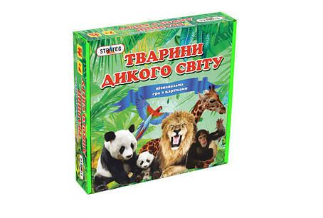 Гра. Розвиваючі картки для дітей. Тварини дикого світу (Тварини дикого світу) 655 Strateg, фото 2