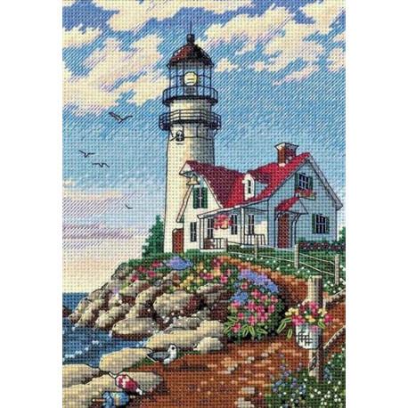 Набор для вышивания крестом «Маяк/ Beacon at Rocky Point» DIMENSIONS Gold Collection Petites