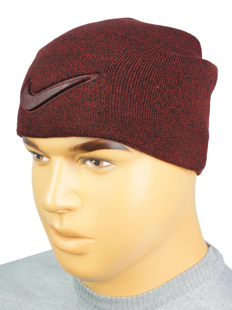 Стильна бордова шапка копія N N 18 bordo для чоловіків
