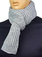 """Чоловічий в'язаний шарф Apex Sport """"STEP"""" light grey в світло-сірому кольорі"""