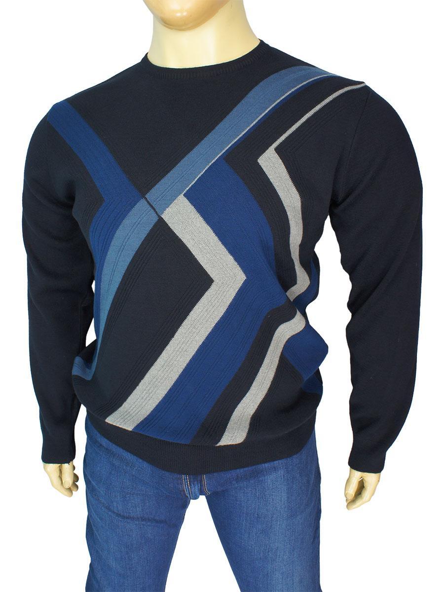 Чоловічий класичний светр Yamak 4451 D.lacivert великий розмір