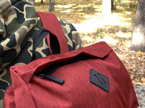 Рюкзак  Мужской красный-черный, Рюкзак для ноутбука, фото 3