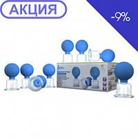 Банки сухие вакуумные полимерно-стеклянные №8 в индивидуальной упаковке Универсальные Альпина Пласт