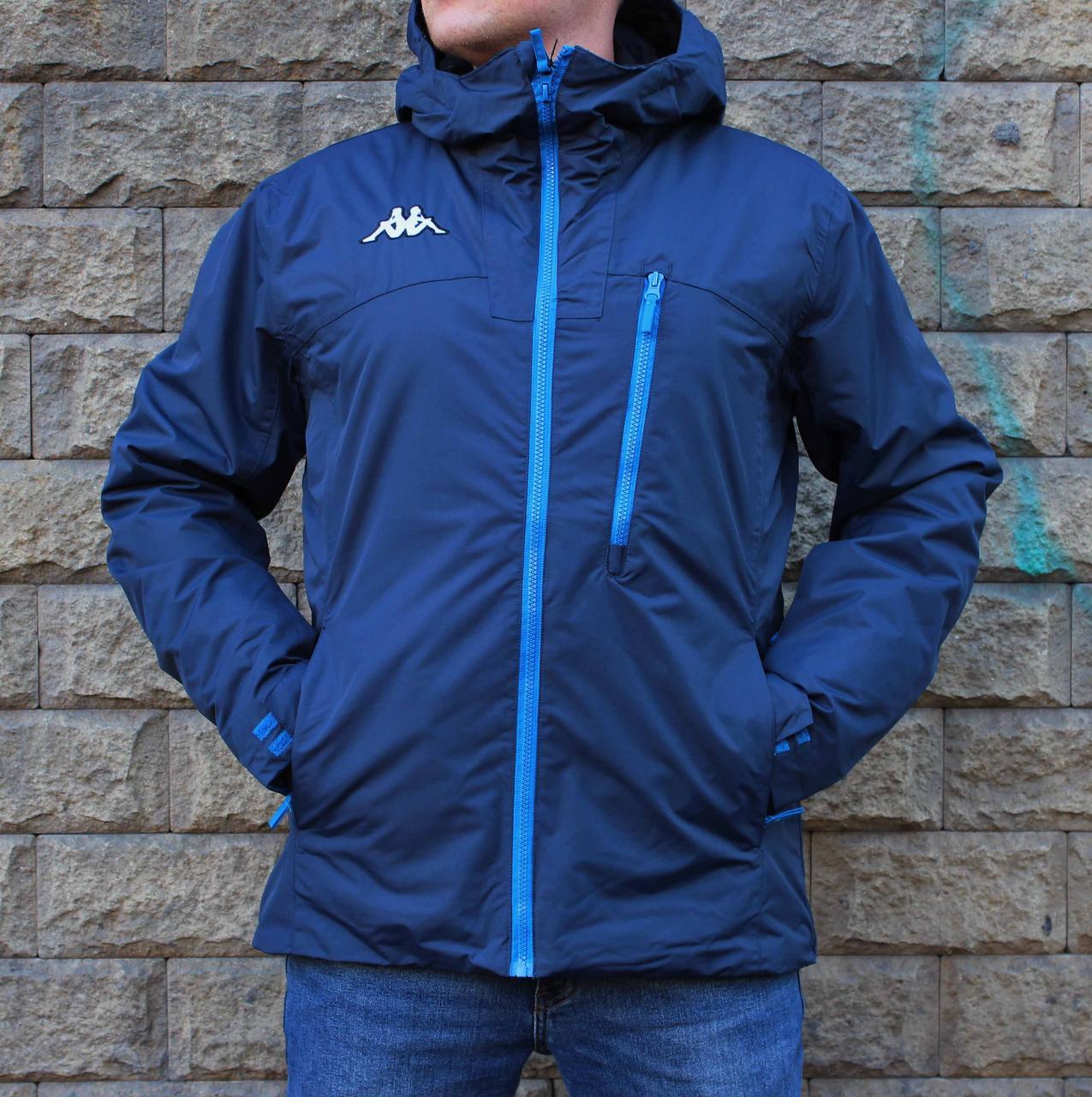 Оригинальная мужская лыжная тонкая синяя куртка Kappa 8Cento 827