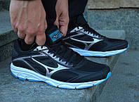 Фирменные беговые мужские черные кроссовки Mizuno Spark 4 K1GA1903-58