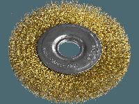 Щетка для УШМ, 100 мм, посадка 22,2 мм, плоская металлическая MTX 746489