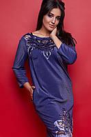Женское нарядное люрексовое платье большого размера с перфорацией.Размеры:50-62.+Цвета
