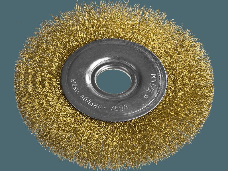 Щетка для УШМ, 150 мм, посадка 22,2 мм, плоская металлическая MTX 746649