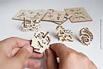 Фиджеты Трибики. Набор из 4 шт | UGEARS | Механический 3D конструктор из дерева, фото 3
