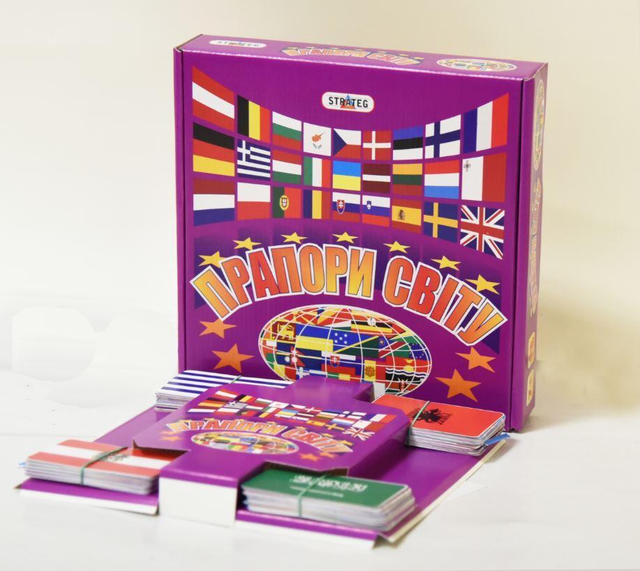 Игра, Развивающие карточки для детей Прапори Свiту (украинская версия) 648 Strateg