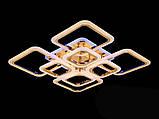 Светодиодная люстра с диммером и цветной подсветкой, цвет хром, 150W, фото 3