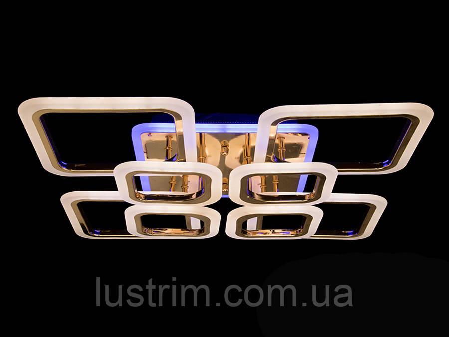 LED люстра с диммером и цветной подсветкой, цвет хром, 150W
