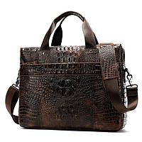 Деловая кожаная сумка для ноутбука
