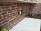 Самоклеющиеся обои Декоративная 3D панель ПВХ 1шт, красный екатеринославский кирпич, фото 3