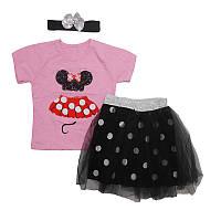 Костюм для девочки   92-110  арт.2601 футболка+юбочка фатиновая