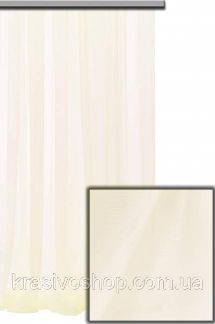 Шифон  турецкий  с утяжелителем, высота 330 см крем