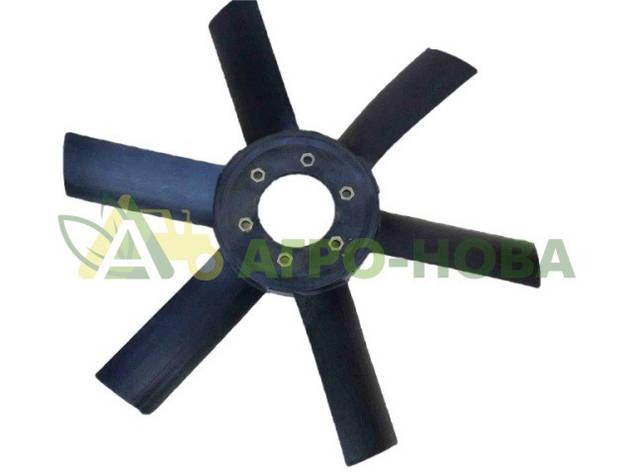 Крыльчатка вентилятора ЮМЗ (пластик), фото 2