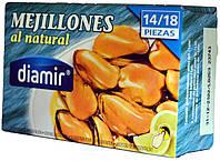 Мидии в собственном соку Diamir Mejillones en natural 115г.ж/б