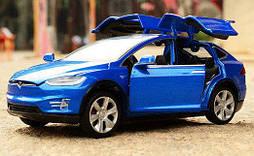 Коллекционный автомобиль Tesla Model X 90 (синий)