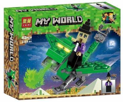"""Конструктор Bela 11271 """"Герои на драконах"""" (аналог Lego Майнкрафт, Minecraft), 62 дет"""