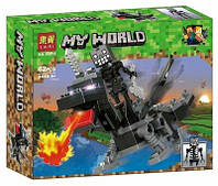 """Конструктор Bela 11272 """"Герои на драконах"""" (реплика Lego Майнкрафт, Minecraft), 62 дет"""