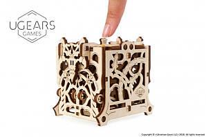 Девайс для настольных игр. Хранилище дайсов | UGEARS | Механический 3D конструктор из дерева