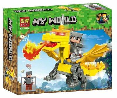 """Конструктор Bela 11274 """"Герои на драконах"""" (аналог Lego Майнкрафт, Minecraft), 62 дет"""