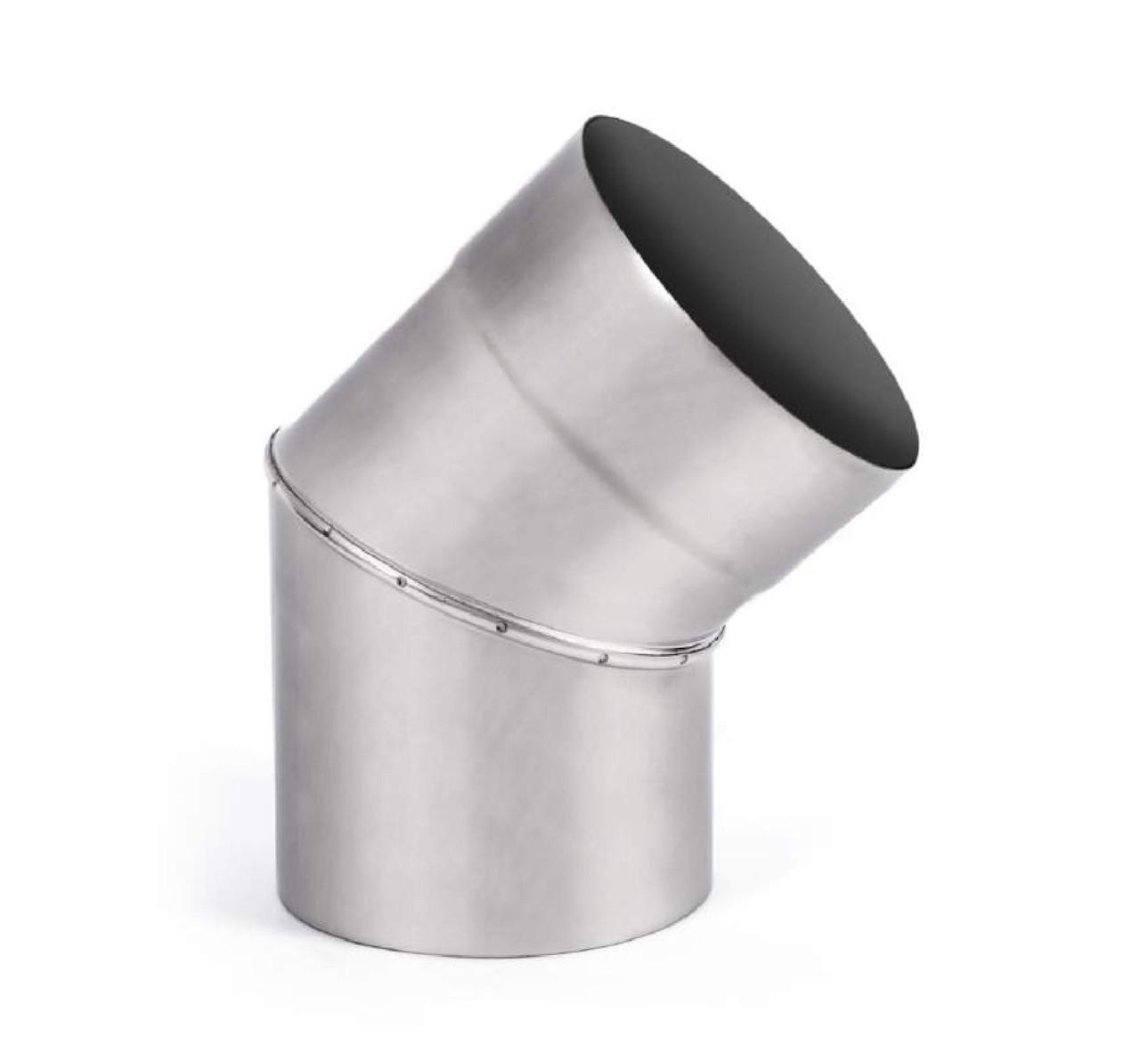 Колено 45° одностенное из нержавеющей стали