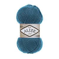 Пряжа Alize Sal Sim 17 петроль (Ализе Шаль Симли, Элайз Шаль Симли) нитки для вязания с люрексом