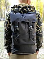 Рюкзак  Мужской темно серый меланж, Рюкзак для ноутбука