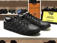 Мужские текстильные кеды Louis Vuitton original quality, фото 1