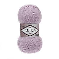 Пряжа Alize Sal Sim 27 лиловый (Ализе Шаль Симли, Элайз Шаль Симли) нитки для вязания с люрексом